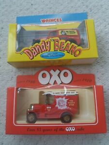 Promotional Advertising Delivery Trucks Lledo Beano Toothy Terror & Oxo Die Cast