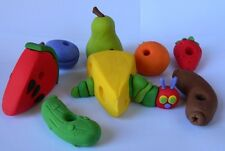 edible 3D HUNGRY CATERPILLAR cake topper SET FRUIT cheese SAUSAGE strawberry