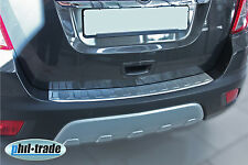 Opel Mokka Chevrolet Trax Ladekantenschutz Edelstahl Abkantung Stoßstange MATT