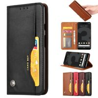For Google Pixel 3 3a 4 XL Luxury Leather Stand Wallet Flip Case Magnetic Cover
