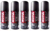 5 x 100 ML Grasa Spray para Cadena moto Motul C3 cadena Lube De Carretera e Quad