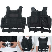 New Tactical Vest Military Gun Holder Molle Police Airsoft Combat Assault Gear