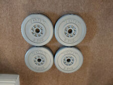 2.5kg / 5.5lb x 4 York  Plate Weights - 10kg / 22lb in total
