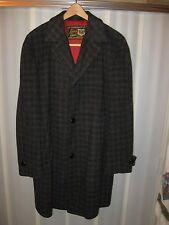 Loden Lodenfrey Munich Germany Vintage 1960's Men's Charcoal Wool Overcoat Coat