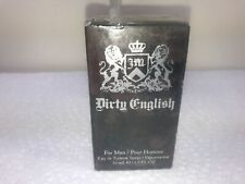 JUICY COUTURE DIRTY ENGLISH FOR MEN EDT SPRAY 1.0 FL OZ MEN NEW SEALED (B17)
