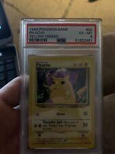 Pikachu Yellow Cheeks #58 PSA 6 Unlimited Base Set 1999 Pokémon Game WOTC!!!