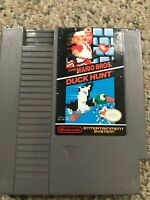 Super Mario Bros and Duck Hunt Nintendo NES - Tested