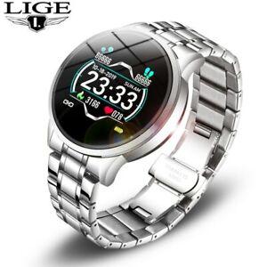 LIGE Fashion Smart Watch Men Women Sport Fitness Tracker Heart Rate Monitor