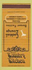 Matchbook Cover - Bunny's Kountry Kitchen Kenwood CA 30 Strike