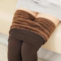 Women Winter Warm Flocked Skinny Slim Leggings Thick Stretch Pants Footless ZH