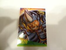1995 Fleer Ultra Spider-Man Clear Chrome Chase Card!!! #6 of 10!! LOOK!!! Rhino!