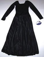 Nwt New Capezio LS Circle Dress Sheer Skirt Liturgical Lyrical Leotard Leo Girl