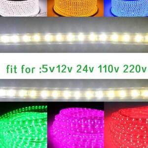 Waterproof Soft Light Strip Tape 5v 12-24v 110-220v Indoor Outdoor Lighting Rope