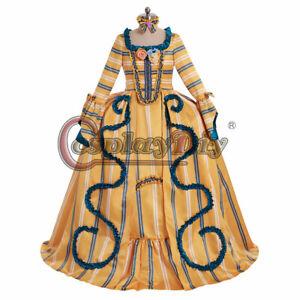 18th Century Marie Antoinette Cosplay Rococo Ball Gown Stripe Regency Dress