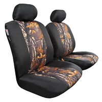 2pcs Front Camo w/t Black Canvas Car Seat Cover For Mazda BT-50 Dual Cab