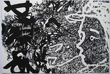 MORETTI RAYMOND LITHOGRAPHIE RIMBAUD 1981 SIGNÉE AU CRAYON HANDSIGNED LITHOGRAPH