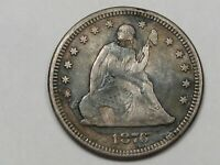 1876 US Seated Liberty Quarter (VF But Corroded).  #111
