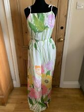 ASOS Bright Floral Chiffon Jumpsuit Size UK 12 NEW WITH TAGS Ivory Yellow Pink