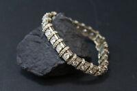 "10.90 Ct Round Cut Diamond 10K Solid Yellow Gold Womens Tennis Bracelet 7"""