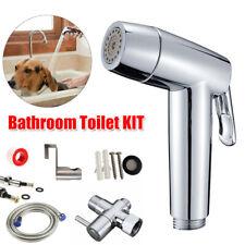 Toilet Bidet Sprayer Handheld Shattaf Bathroom Shower Head T-adapter Hose Set