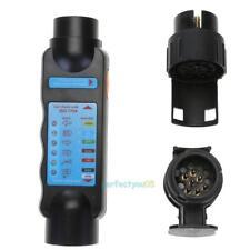 7Pin/13Pin Vehicle Trailer Towing Lights Wiring Circuit Plug+Tester+Socket Set