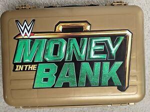 WWE Plastic Kids Money In The Bank Briefcase Figures Toy Case 2017 Mattel