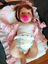 "1997 Lee Middleton by Reva Schick 20"" Brunette & Brown Eyes Baby Real Doll"