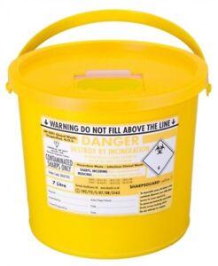 Sharpsguard sharps needle waste bin box container medical insulin tattoo 7L