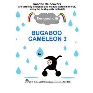 RAINCOVER by Koodee designed to fit BUGABOO CAMELEON 3 SEAT UNIT Made in UK BNIP