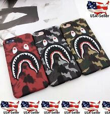 Shark Mouth Bape iPhone 6 6S 7 Plus Hard Phone Case Matte Cover USA Seller