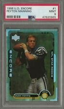 New listing PSA 9 1998 98 UD Upper Deck Encore PEYTON MANNING RC Rookie #1 Graded MINT