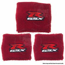 1 Large & 2 Small Red Brake & Clutch Reservoir Sock Cover Motorcycle Bike GSXR