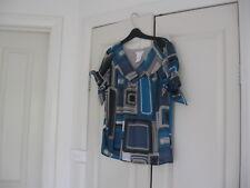 Ladies Top Size Medium Design Worthington  Short Sleeves Polyester 100%
