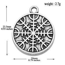 Awe Charm for Diy Jewelry Making 10pcs Vintage Amulet Norse Aegishjalmur Helm of