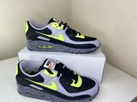 Nike Air Max 90 NBY Leather Black Grey Cookie Volt Size 8.5