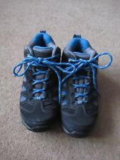 Karrimor Mount Mid Junior Walking Boots Size 2 EU34 Blue/Charcoal WORN ONCE ONLY