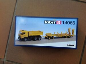Kibri 1:87 MAN Kipplastwagen mit Tieflader Anhänger