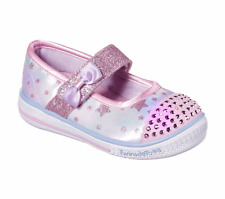 Skechers Girls Twinkle Toes, Twinkle Play - Starry Sparks Light Up Shoes. 20140N