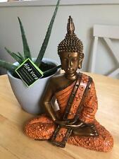 Énergie Solaire Bouddha effet pierre jardin extérieur intérieur Statue Ornement 12 in environ 30.48 cm