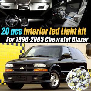 20Pc Super White Car Interior LED Light Bulb Kit for 1998-2005 Chevrolet Blazer