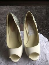 """Pink by Paradox London Size 39 Crystal Shoes """"Starry"""" Ivory SatinNEW"""