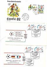 España. Tres sobres y tres Tarjetas del Mundial de Futbol España 82