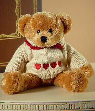 Teddy Bear 'Lovey' Handmade Settler Bears Gift Heart Love Bear 10cms BRAND NEW