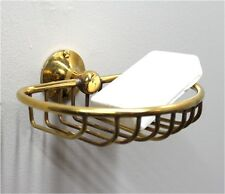 Wall Mount Soap Dish / Sponge holder Solid Brass vintage Replica