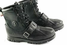 Ralph Lauren Polo mens sz 15 Andres III black leather pitstop boots New no box