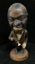 Lovely ESCO Caricature Chalkware Statue of Louis Armstrong & Trumpet Smiling