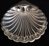 Harrods Ltd Antique Solid Silver hallmarked Scallop shaped Caviar or Butter dish