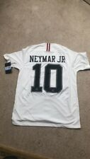 Nike Air Jordan x PSG 18/19 Football Shirt - Medium - White - NEYMAR JR 10