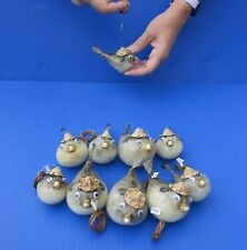 10 piece 3 to 4 inch Puffer Blowfish with hat and hanger taxidermy #38779