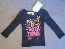 New Amy Coe 6/9 Months Black Long Sleeve Sequin Forever in Hot Pink T-Shirt